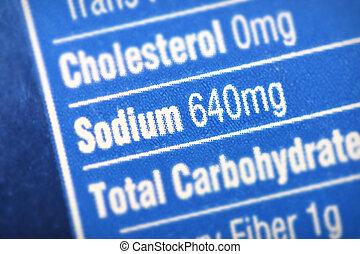 High in sodium