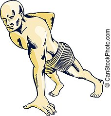 High Intensity Interval Training Push-up Etching