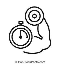 high intensity workout illustration design