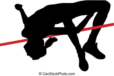 High jump - Abstract vector illustration of high jumper...