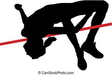 High jump - Abstract vector illustration of high jumper...