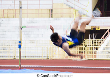 High Jump Action (Blurred)