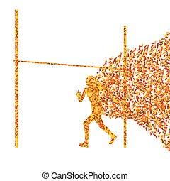 High jump woman athletics active girl sport silhouette...