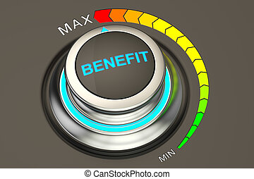 high level benefit concept, 3D rendering