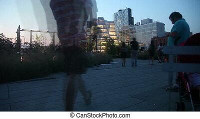 High Line park New york time lapse
