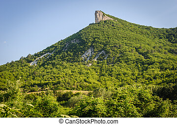 High mountain cliff in Crimea, Ucraine or Russia