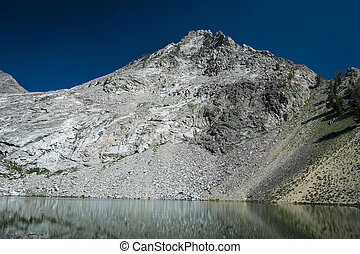 High mountain lake