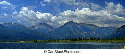 High Mountain Lake in Rocky Mountains Colorado
