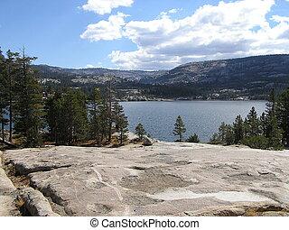 High Mountain Lake - Top of Carson Pass near Lake Tahoe.