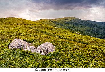 high mountain landscape - high mountain idyllic landscape....