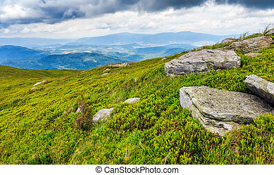 high mountain landscape - high mountain idyllic landscape....