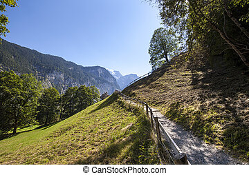 High Mountain Landscape in the Alps