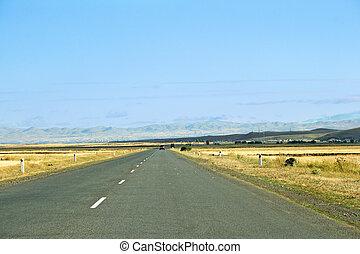 High mountain road