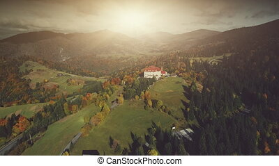 High mountain scenery guest house aerial view - Sunset Green...