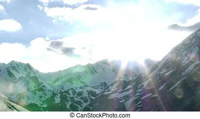 High mountain sunset