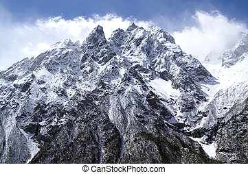 High Mountains. Caucasus. Tsey.