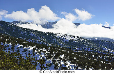 High Mountains of Colorado in Winter