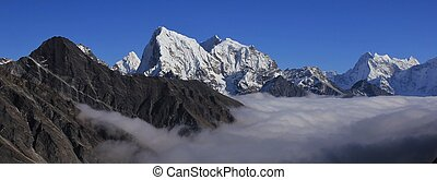 High mountains of the Himalayas, Gokyo Valley