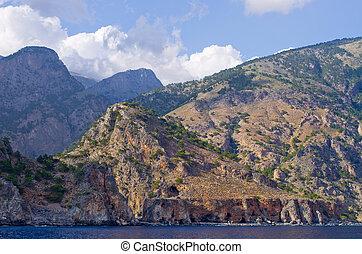 High mountains over the sea, Crete island, Greece
