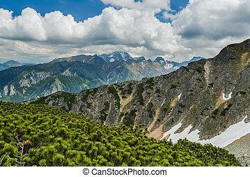 High mountains peaks in Tatra mountains, Poland
