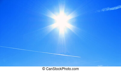 Blue Sky at high noon