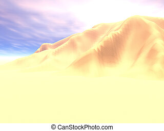 High Noon Sands - The desert dunes at noon
