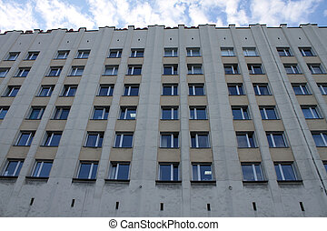 High office building on the main square of Murmansk, Russia