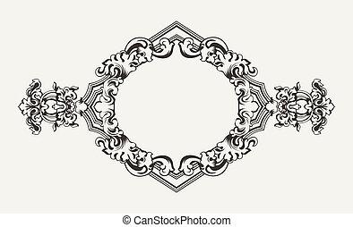 High Ornate Old Romb Frame