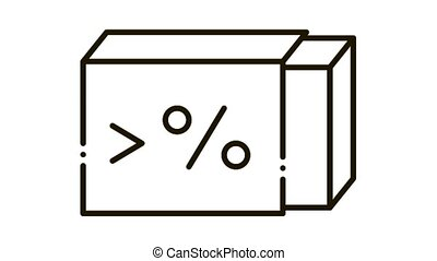 high percentage butter Icon Animation. black high percentage butter animated icon on white background