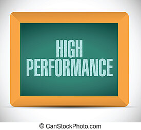 high performance message on a chalkboard.