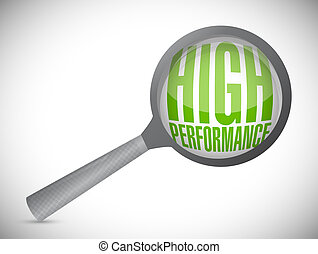 high performance review concept illustration