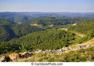 Kentucky - High point view of Smokey Mountains in Kentucky