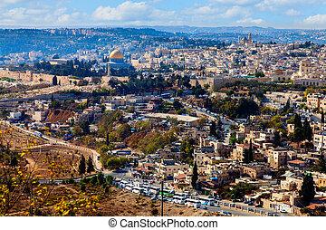 Jerusalem - High point view over Jerusalem, Israel