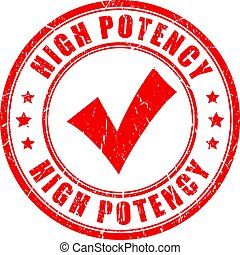 High potency rubber stamp