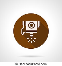 High precision CNC laser flat round vector icon - Abstract...