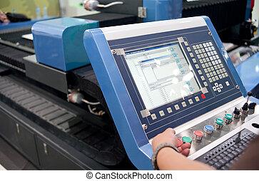 high-precision, computador, gravura, equipamento