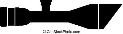High precision optical sniper rifle scope, tactical gear