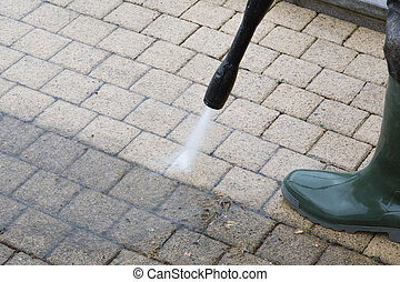 High Pressure Cleaning - 16 - Outdoor floor cleaning with...
