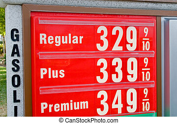 The sign of the time - high gasoline prices everywhere