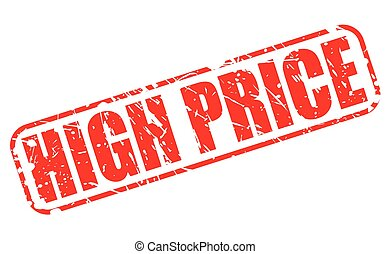 HIGH PRICE red stamp text on white