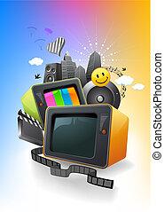 Television...film...music...entertainment media.