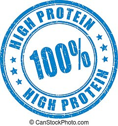 High protein product, ink vector stamp