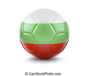 High qualitiy soccer ball with the flag of Bulgaria rendering.(series)