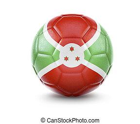 High qualitiy soccer ball with the flag of Burundi rendering.(series)