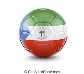 High qualitiy soccer ball with the flag of Equatorial Guinea rendering.(series)