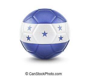 High qualitiy soccer ball with the flag of Honduras rendering.(series)