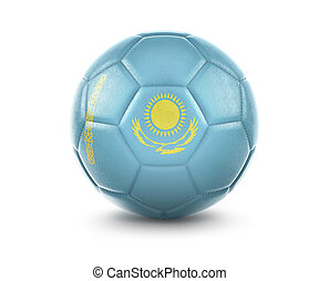 High qualitiy soccer ball with the flag of Kazakhstan rendering.(series)