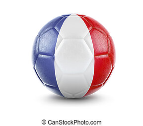 High qualitiy soccer ball with the flag of New Caledonia rendering.(series)
