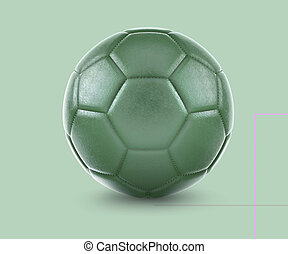 High qualitiy soccer ball with the flag of rendering.(series)