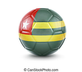 High qualitiy soccer ball with the flag of Togo rendering.(series)